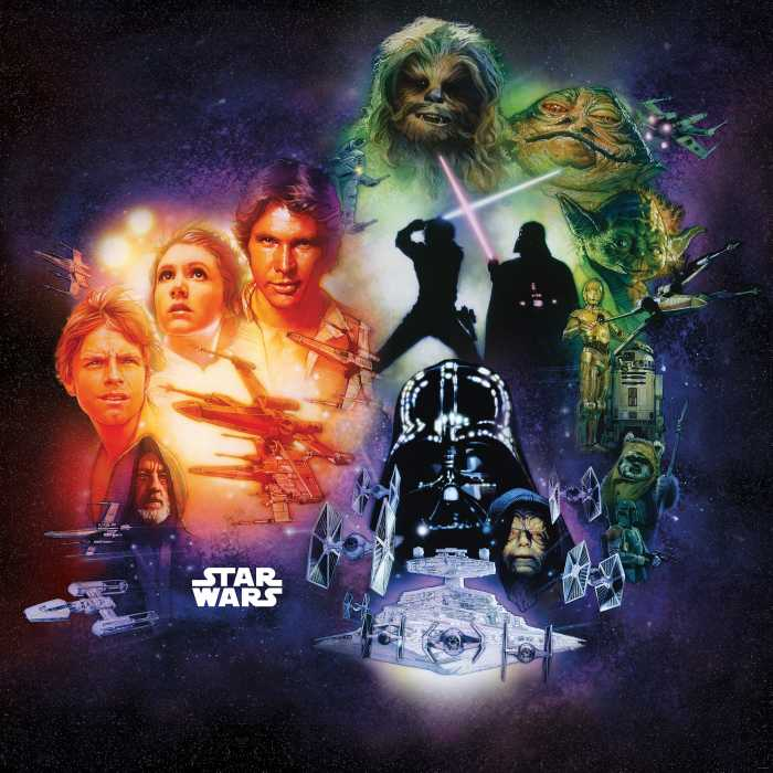 Poster XXL impression numérique Star Wars Classic Poster Collage
