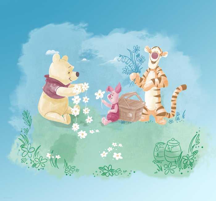 Poster XXL impression numérique Winnie Pooh Picnic