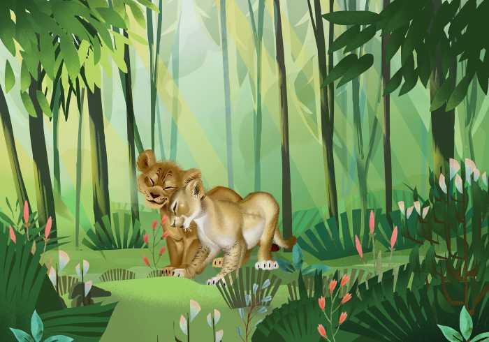 Poster XXL impression numérique Lion King Love