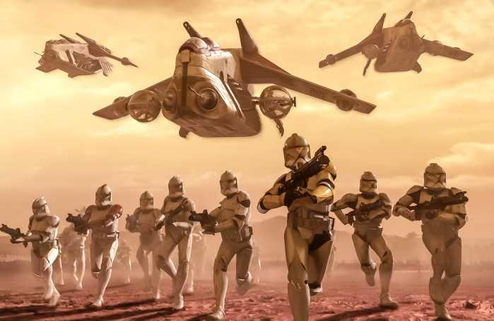 Poster XXL impression numérique Star Wars Classic Clone Trooper