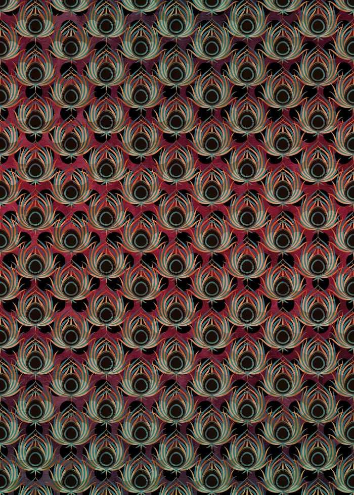 Poster XXL impression numérique Paon Rouge