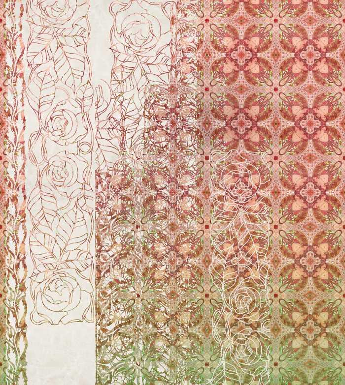 Poster XXL impression numérique Art Nouveau Rouge