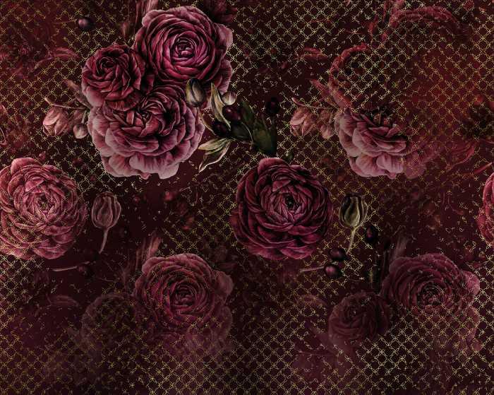 Poster XXL impression numérique Rouge Intense