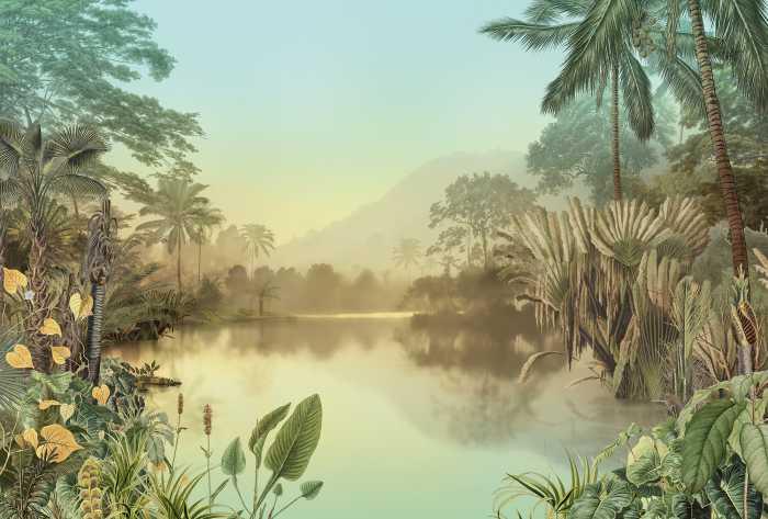Poster XXL impression numérique Lac Tropical