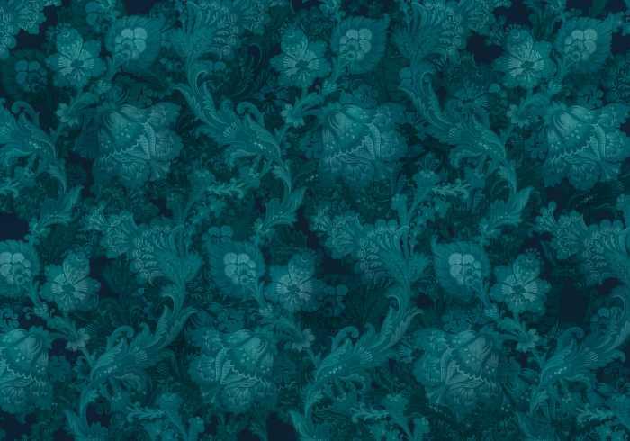 Poster XXL impression numérique Fleurs de Nuit
