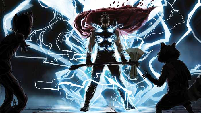 Poster XXL impression numérique Thor God of Thunder