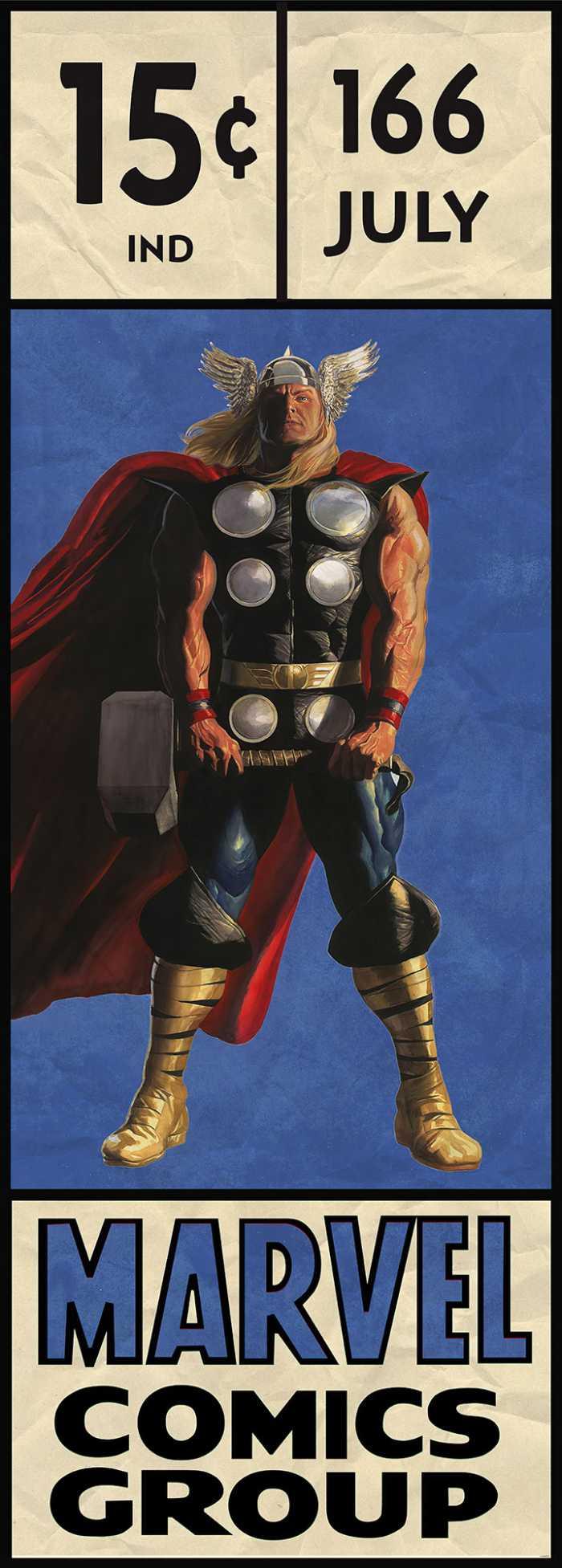 Poster XXL impression numérique Thor Retro Comic Box