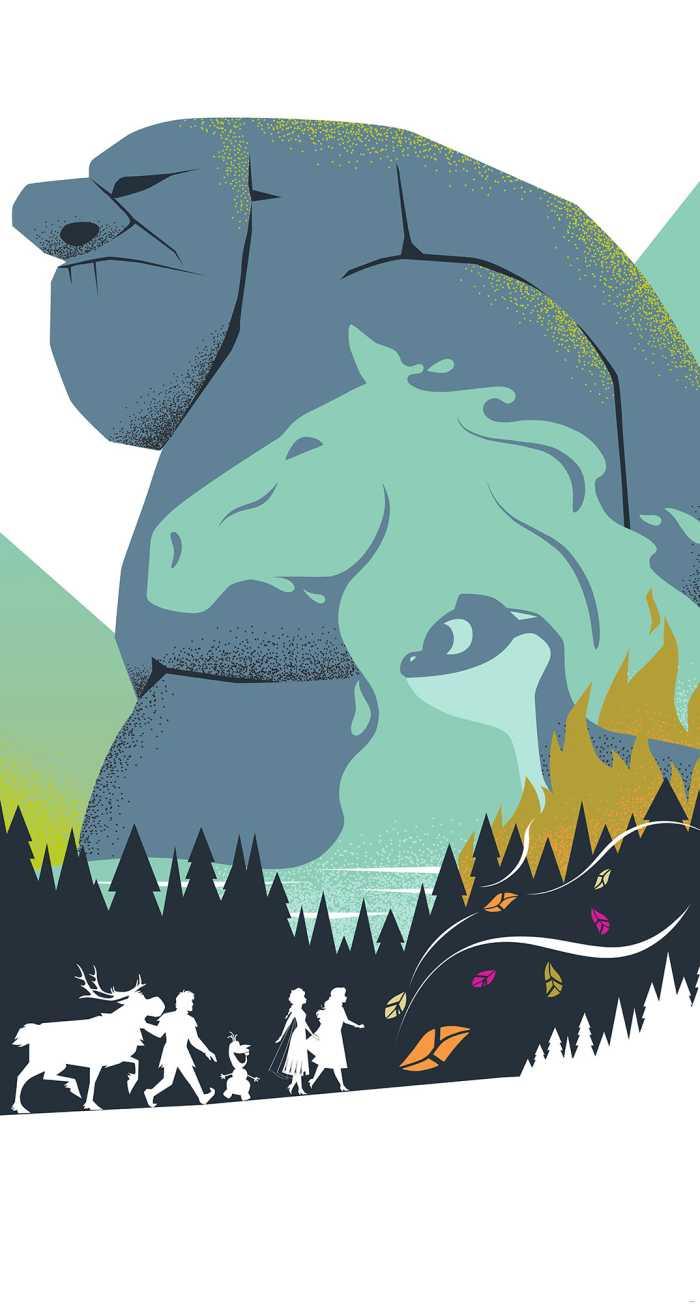 Poster XXL impression numérique Frozen Adventure