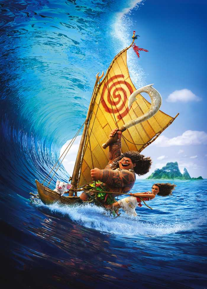 Poster XXL impression numérique Moana Ride the Wave