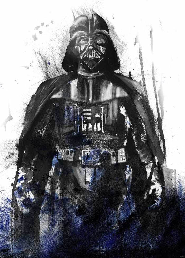 Poster XXL impression numérique Star Wars Watercolor Vader