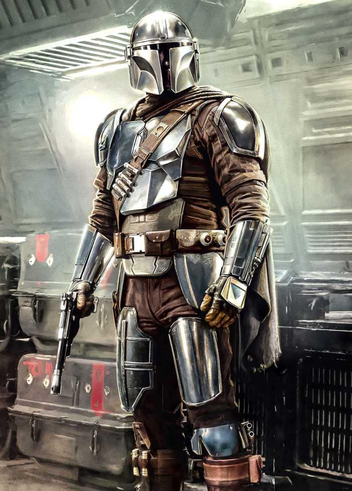 Poster XXL impression numérique Mandalorian Fight Posture
