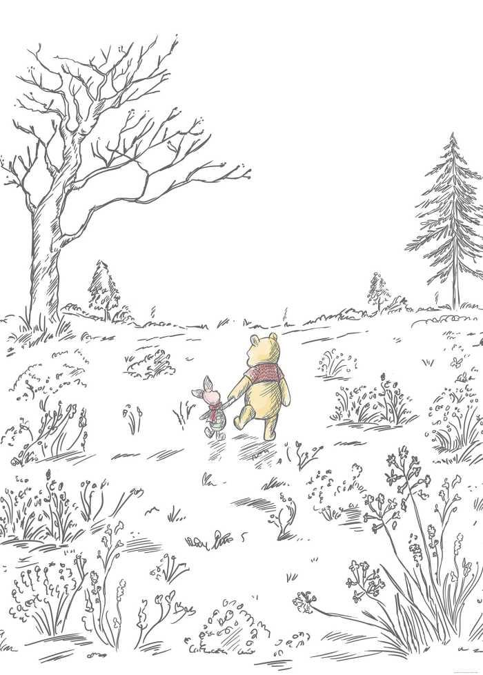 Poster XXL impression numérique Winnie Pooh Walk
