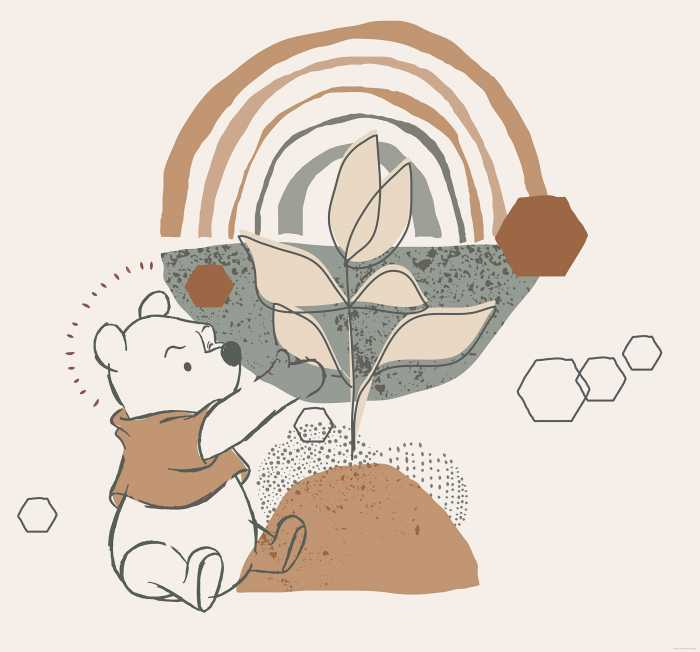 Poster XXL impression numérique Winnie Pooh Grow