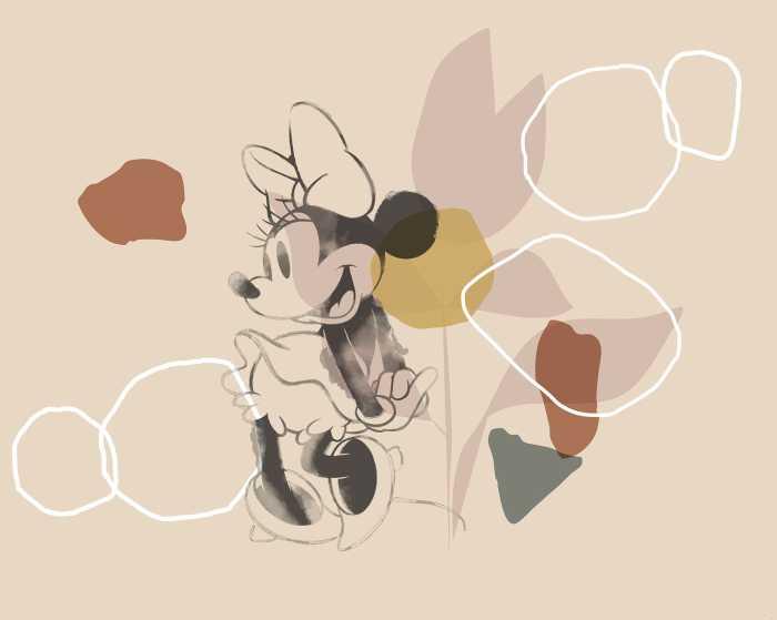 Poster XXL impression numérique Minnie Soft Shapes