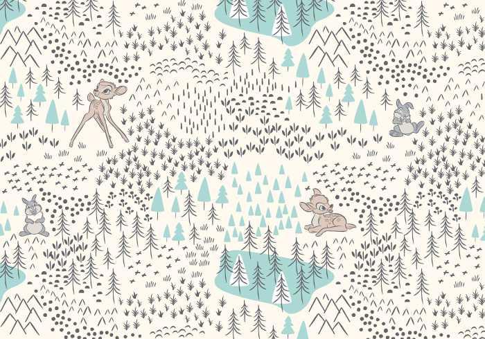 Poster XXL impression numérique Bambi Woodland