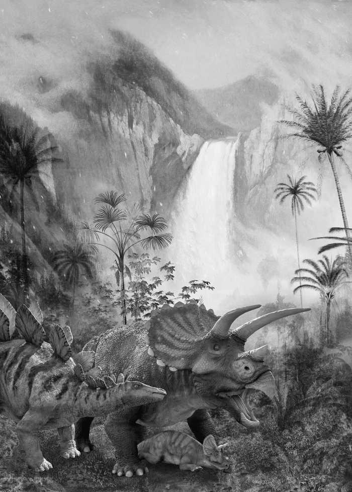 Poster XXL impression numérique Jurassic Waterfall