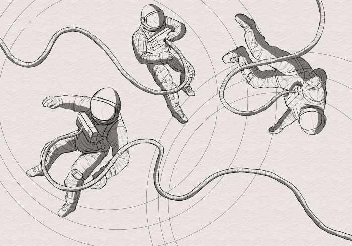 Poster XXL impression numérique Extraordinary Astronauts
