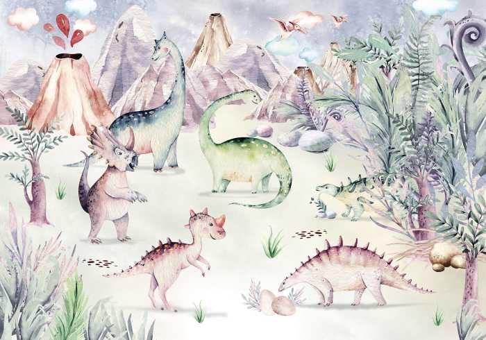 Poster XXL impression numérique Dino Playground