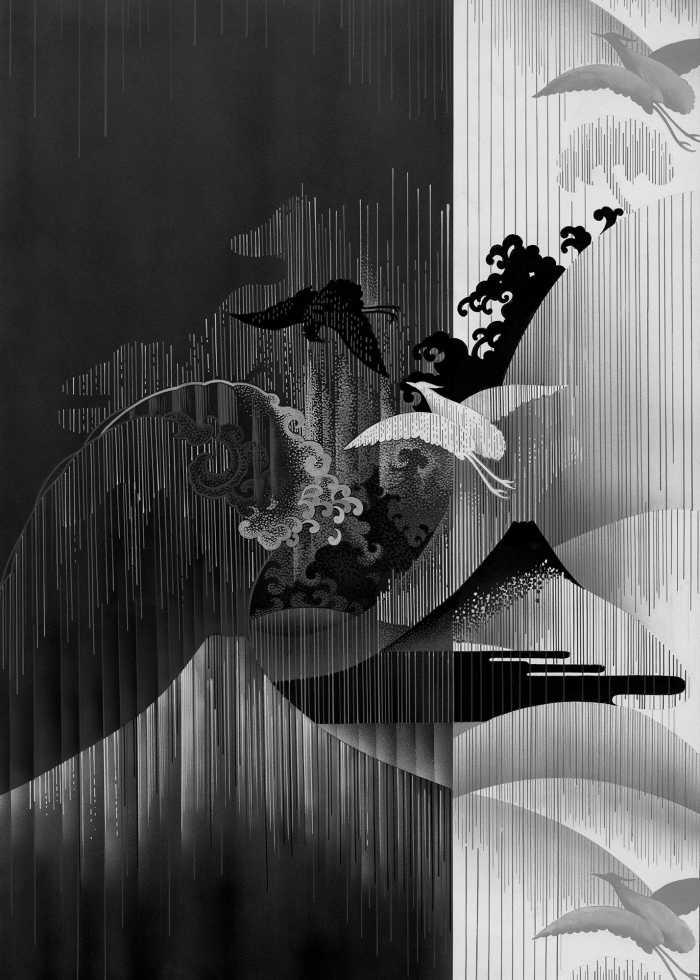 Poster XXL impression numérique Yin Yang