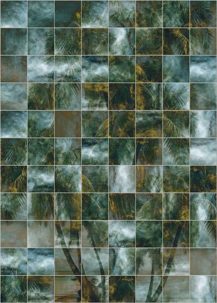 Poster XXL impression numérique Palm Puzzle