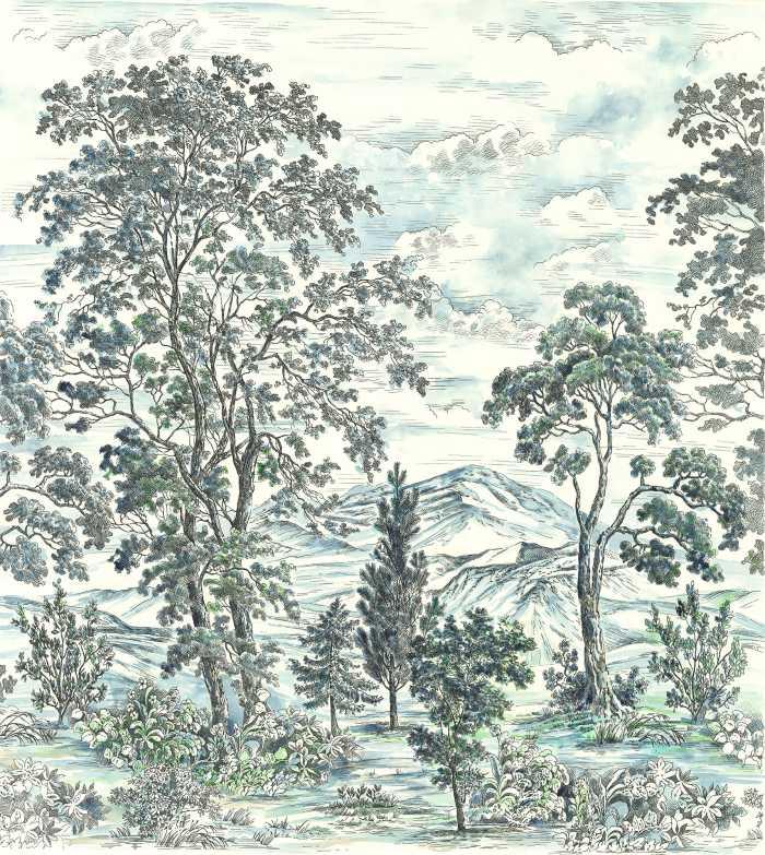 Poster XXL impression numérique Highland Trees