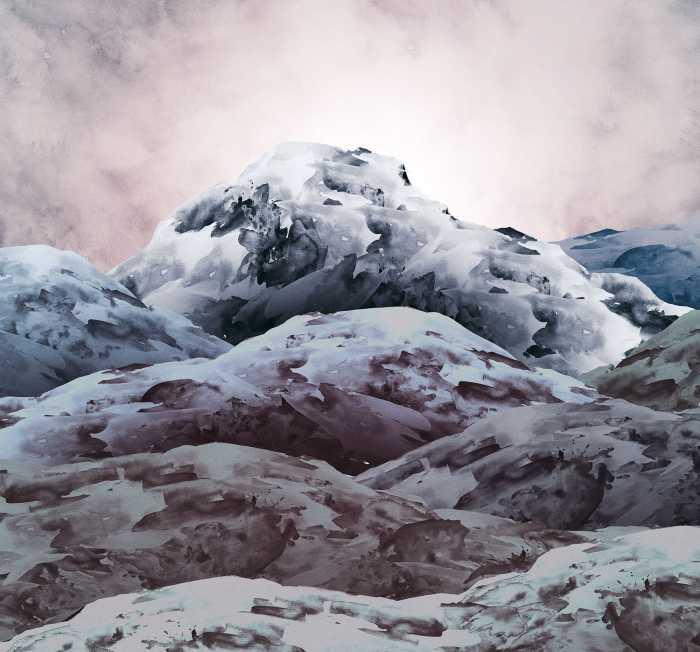 Poster XXL impression numérique Shadow Mountain