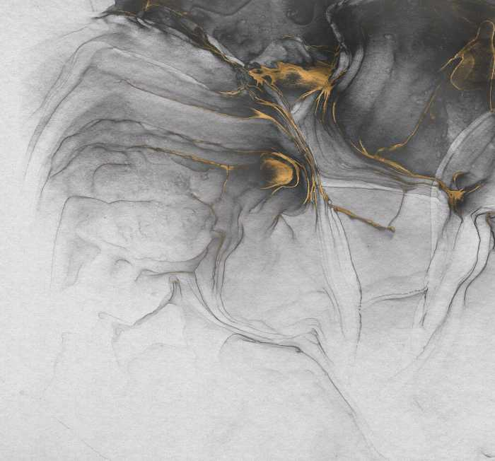 Poster XXL impression numérique Ink Gold Flow