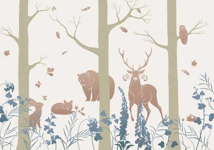 Poster XXL impression numérique Forest Animals