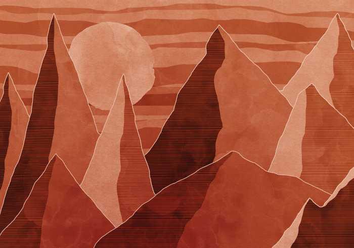 Poster XXL impression numérique Desert Mile