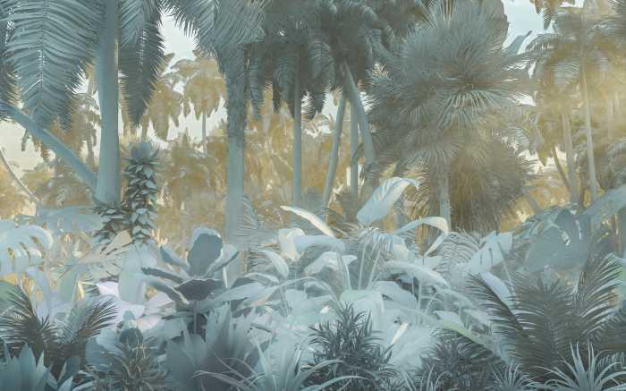 Poster XXL impression numérique Misty Jungle