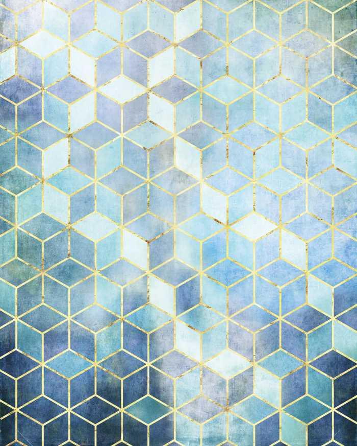 Poster XXL impression numérique Mosaik Azzuro