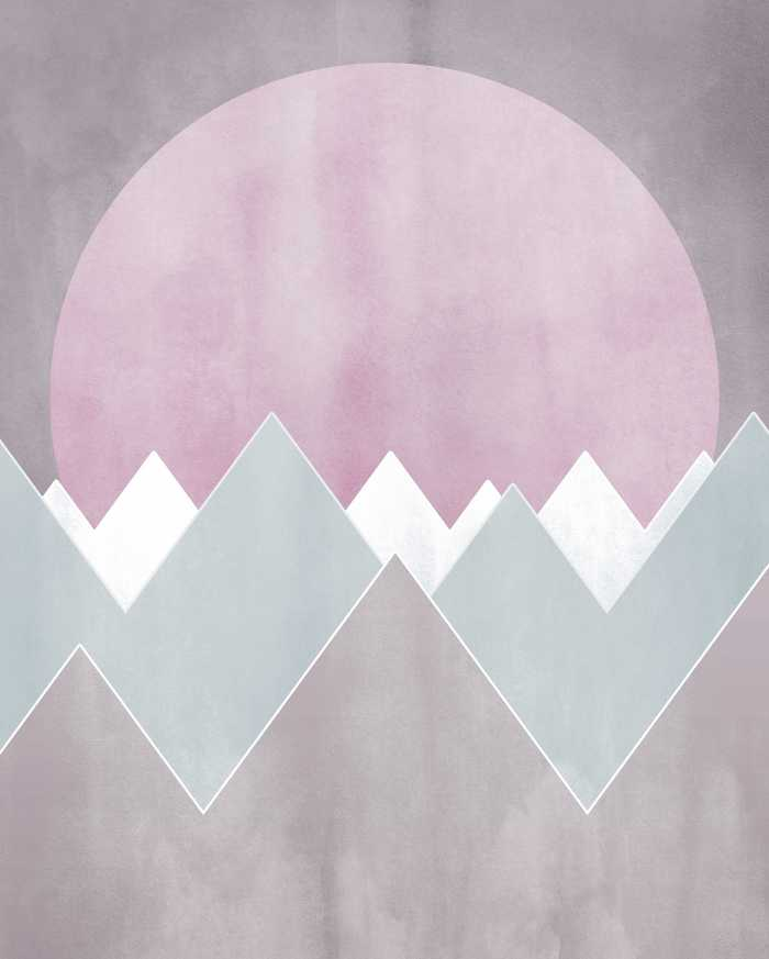 Poster XXL impression numérique Sunrise Gentle