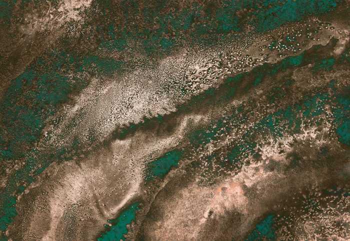 Poster XXL impression numérique Molten Copper