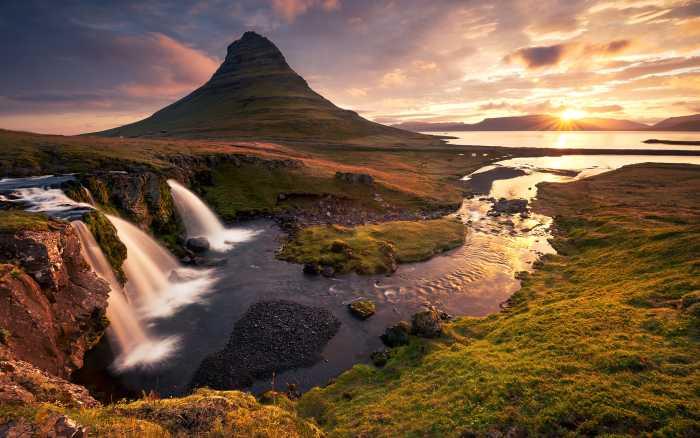 Poster XXL impression numérique Guten Morgen auf Isländisch