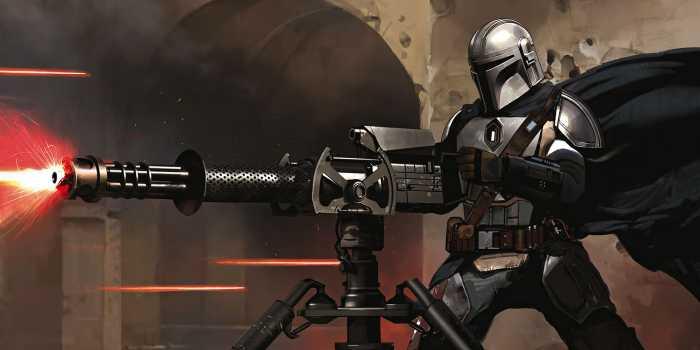 Poster XXL impression numérique Star Wars The Mandalorian Blaster