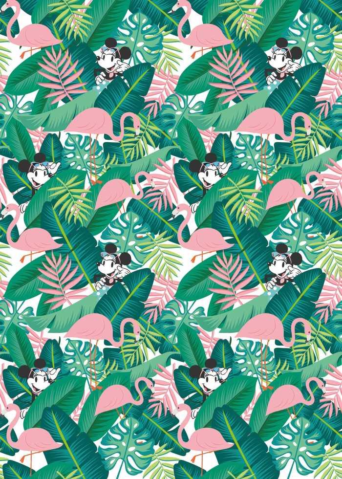 Poster XXL impression numérique Minnie Tropical