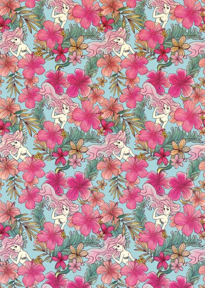 Poster XXL impression numérique Ariel - Pink Flower