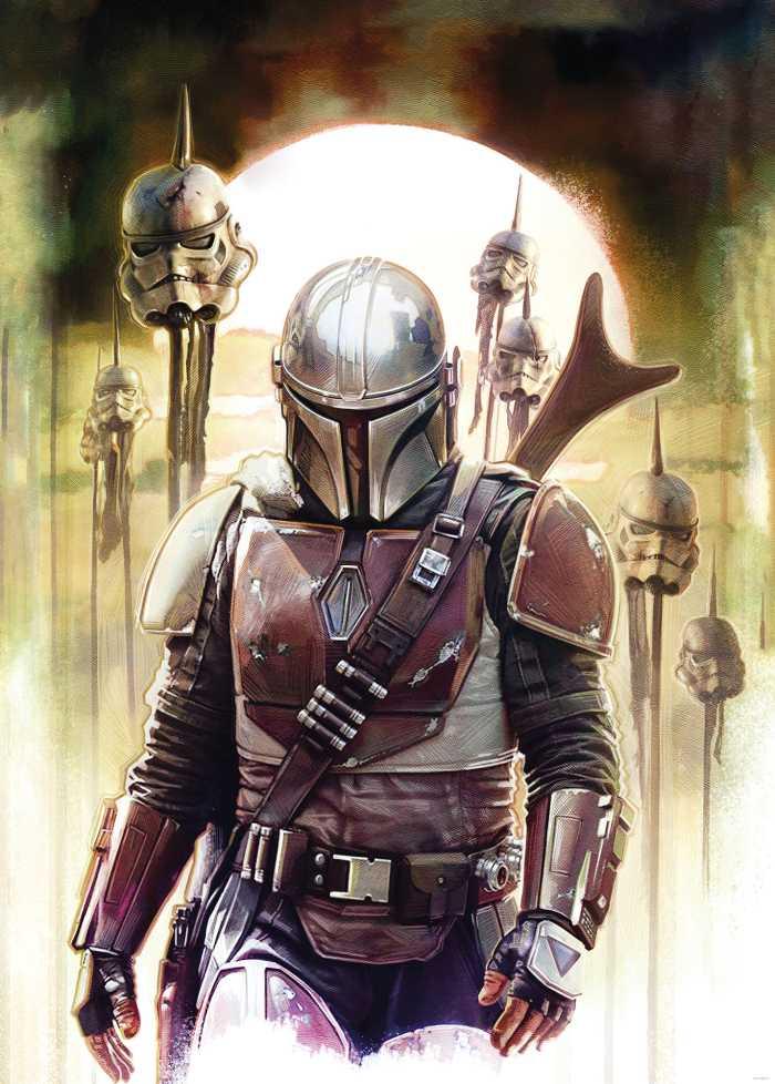 Poster XXL impression numérique Star Wars The Mandalorian Big Impaler