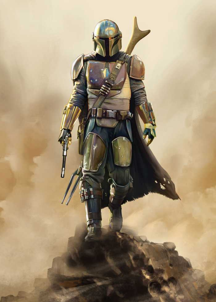Poster XXL impression numérique Star Wars The Mandalorian The Hunter