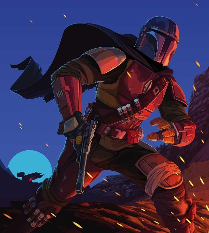 Poster XXL impression numérique Star Wars The Mandalorian Big Ambush
