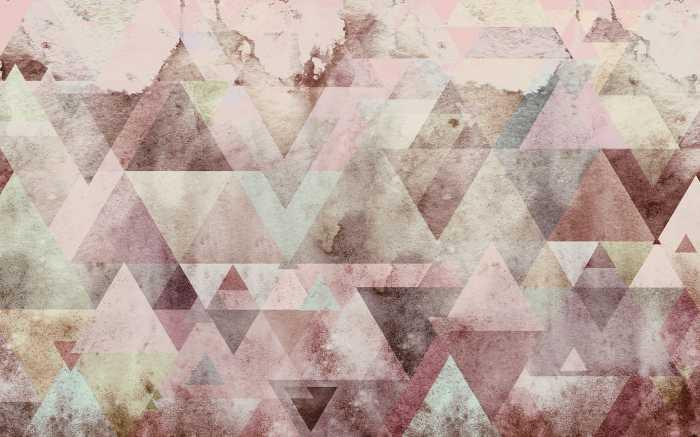 Poster XXL impression numérique Triangles Red