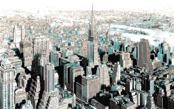 Poster XXL impression numérique Gotham