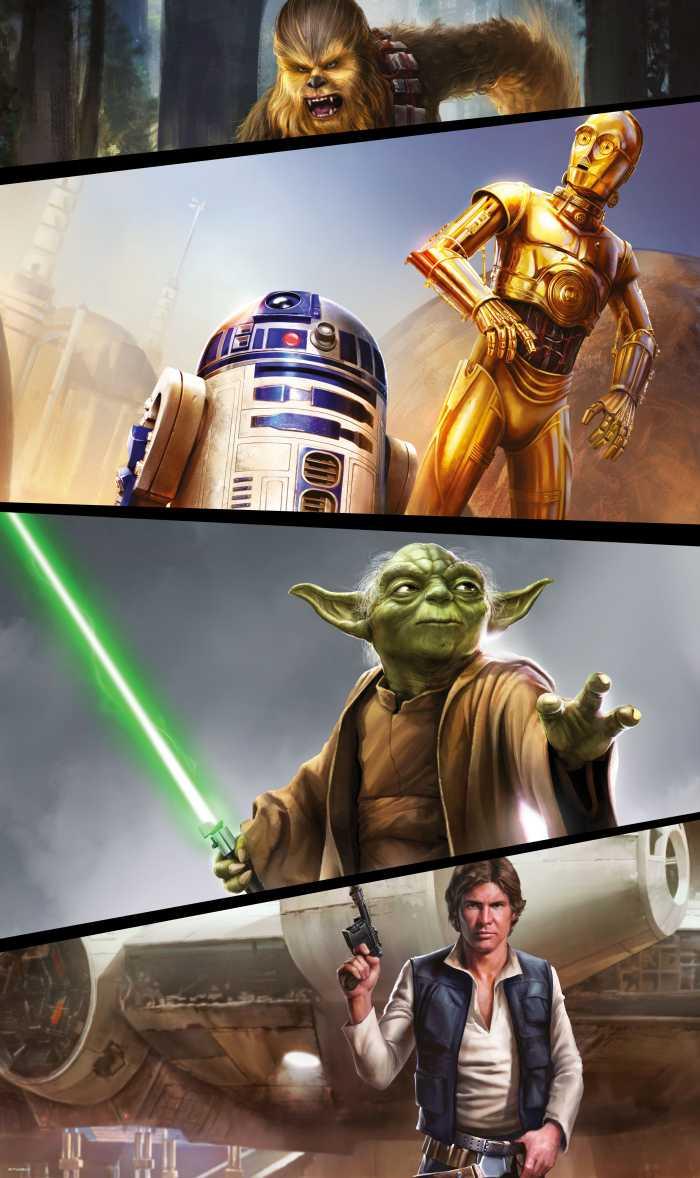 Panneau sur intissé  Star Wars Moments Rebels