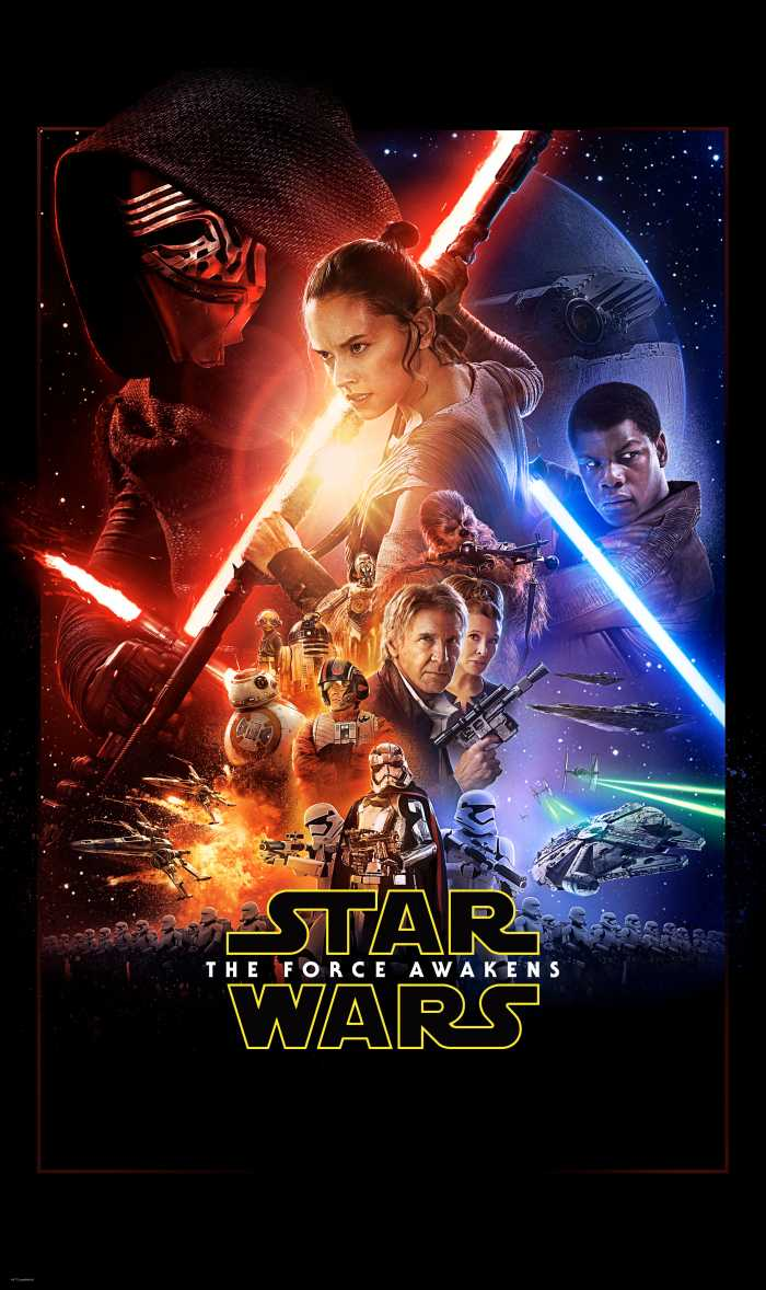 Panneau sur intissé  Star Wars EP7 Official Movie Poster
