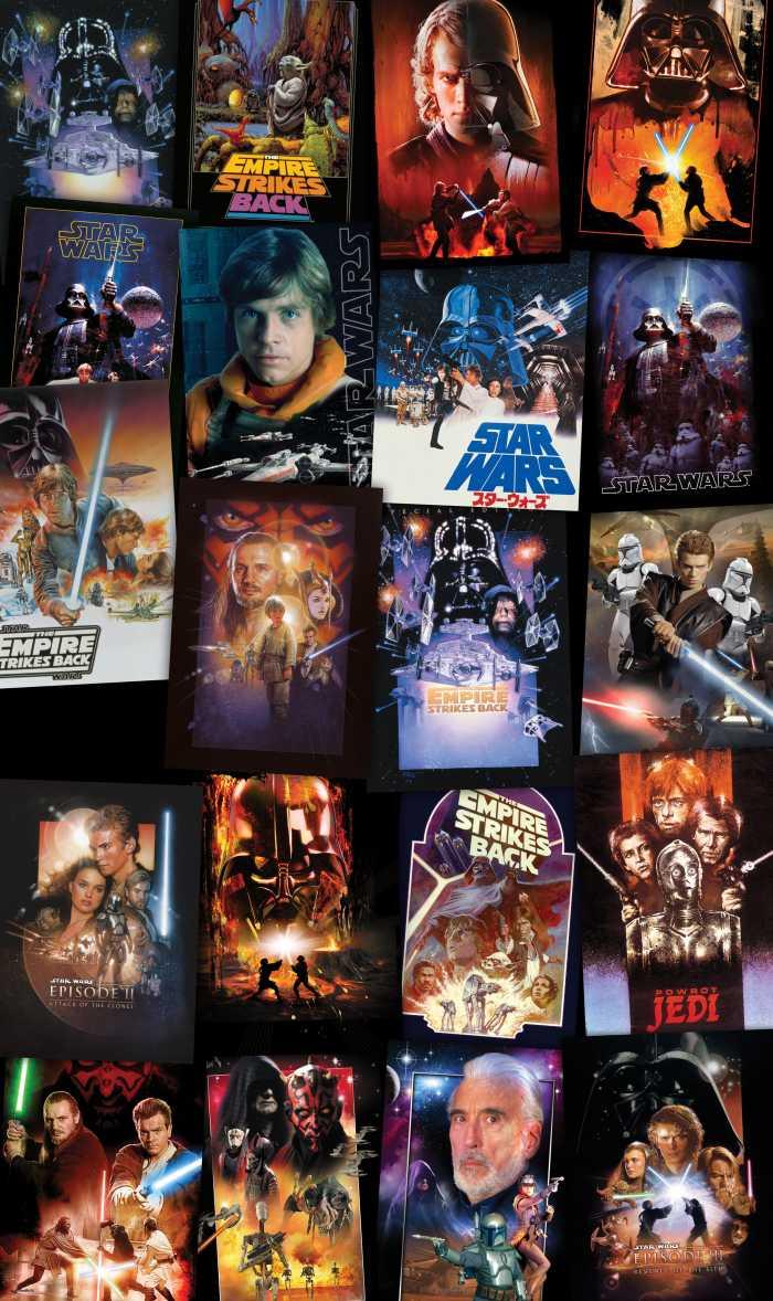 Panneau sur intissé  Star Wars Posters Collage