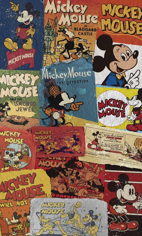Panneau sur intissé  Mickey - Billboard