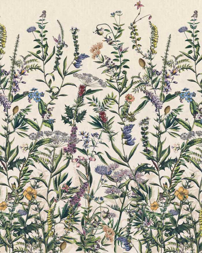 Poster XXL impression numérique Flowering Herbs