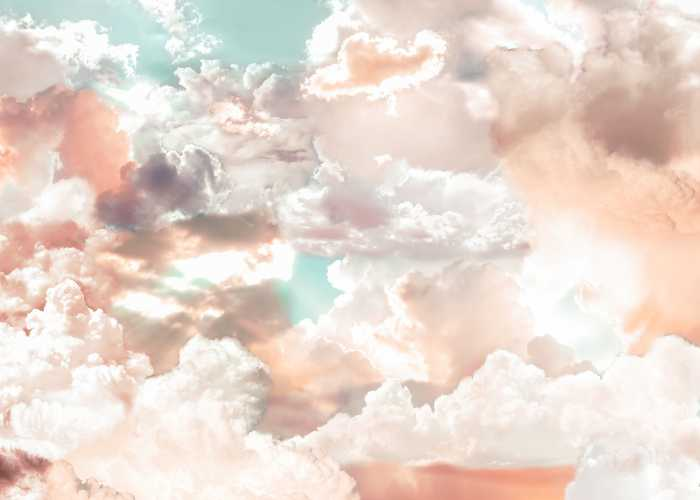 Poster XXL impression numérique Mellow Clouds
