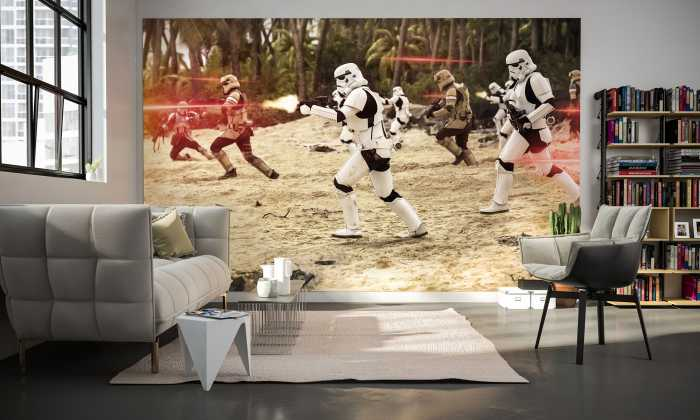 photo murale intiss star wars empire de komar. Black Bedroom Furniture Sets. Home Design Ideas