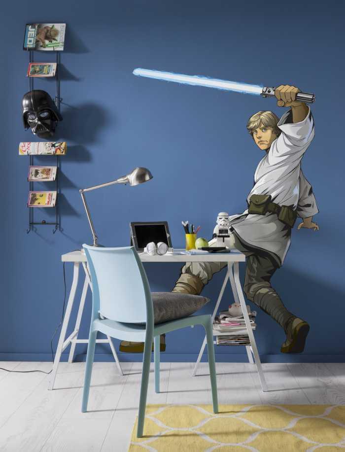 Sticker mural Star Wars XXL Luke Skywalker